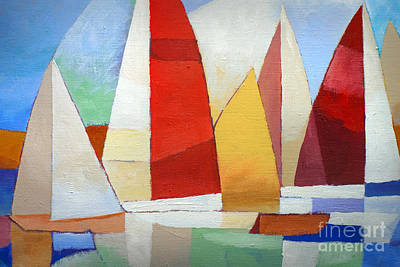 Abstract Seascape Painting - I Am Sailing by Lutz Baar