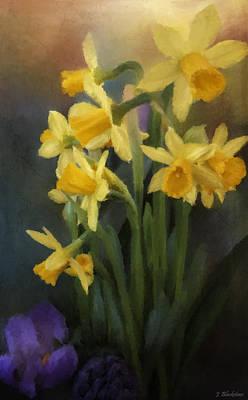 Jordan Painting - I Believe - Flower Art by Jordan Blackstone