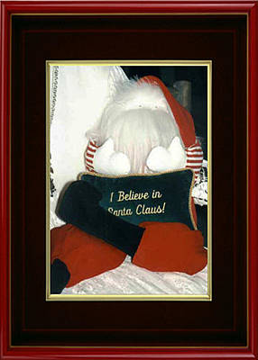 Cards Painting - I Believe In Santa Claus by Eve Riser Roberts
