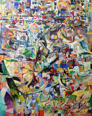 Subconscious Painting - I Believe This And Understand It Fully Well 10 by David Baruch Wolk