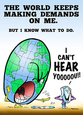 I Can't Hear You Print by Mark Armstrong