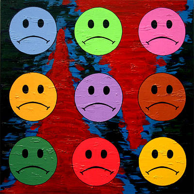 Unhappy Painting - I Don't Like It by Oliver Johnston