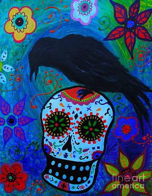 Day Of The Dead Painting - I Estar Vigilando Siempre by Pristine Cartera Turkus