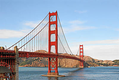 Engineering Photograph - I Guard The California Shore - Golden Gate Bridge San Francisco Ca by Christine Till