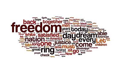 Have Digital Art - I Have A Dream By Martin Luther King by Florian Rodarte