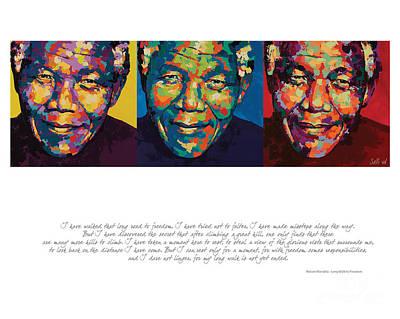 Mandela Painting - I Have Walked That Long by Salli Van Druten