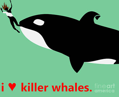 I Heart Killer Whales Original by Joseph Donnison