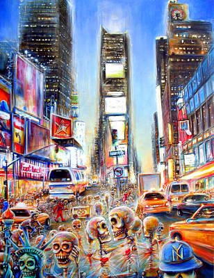 Times Square Painting - I Heart Ny by Heather Calderon