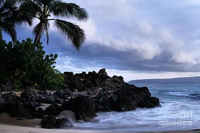 I Ke Kai Hawanawana Eia Kuu Lei Aloha - Paako Beach Maui Hawaii Print by Sharon Mau
