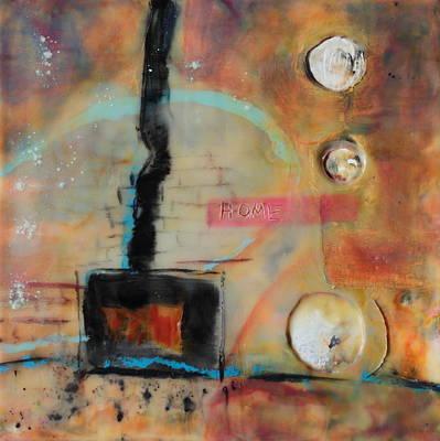 Encaustic Painting - I Keep Them Burning by Mary C Farrenkopf