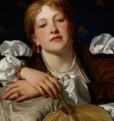Auburn Painting - I Know A Maiden Fair To See by Charles Edward Perugini