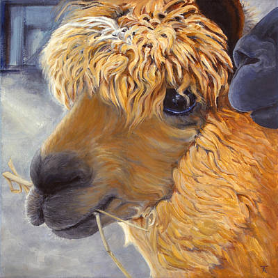 Llama Painting - I Know A Secret by Tracy Anderson