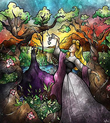 Maleficent Digital Art - I Know You by Mandie Manzano
