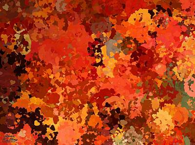Autumn Painting - I Love Autumn by Bruce Nutting
