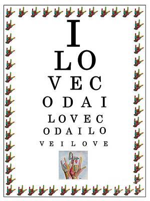 I Love Coda Eye Chart Original by Eloise Schneider