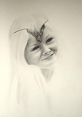 Blending Drawing - I Love Dressing Up by Lynn Hughes