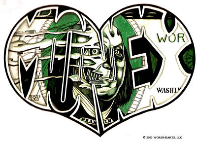Debt Drawing - I Love Fast Money by Alexis Heath