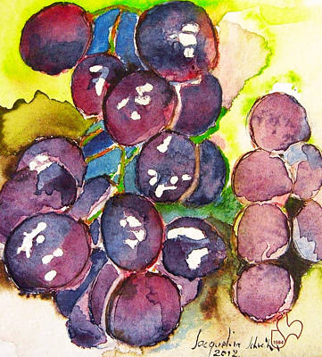 Painting - I Love Grapes .... by Jacqueline Schreiber