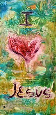 I Love Jesus Original by Ivan Guaderrama