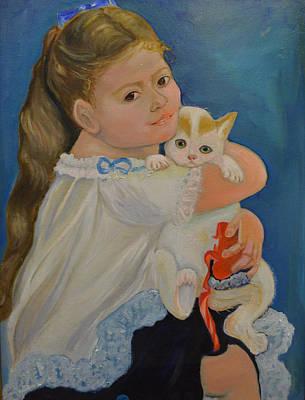 I Love My Kitty Print by Karen Norberg