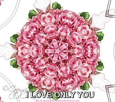 Painting - I Love Only You  by PainterArtist FIN