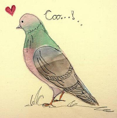 Pigeon Fancier Print by Hazel Millington