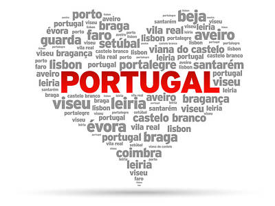 I Love Portugal Print by Aged Pixel