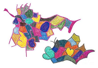 U2 Drawing - I Love U 2 by Bjorn Sjogren