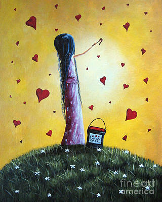 Surreal Painting - I Love You By Shawna Erback by Shawna Erback