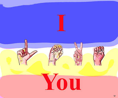 I Love You Print by Charles Shoup