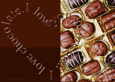 Photograph - I Love You More Than I Love Chocolate 3 by Andee Design