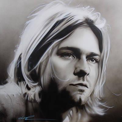 Kurt Cobain Painting - Kurt Cobain - ' I Need An Easy Friend ' by Christian Chapman Art