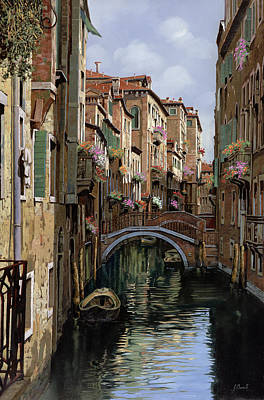 Canal Painting - I Ponti A Venezia by Guido Borelli