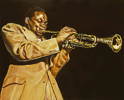 Trumpet Painting - I Remember Clifford by Rudy Browne