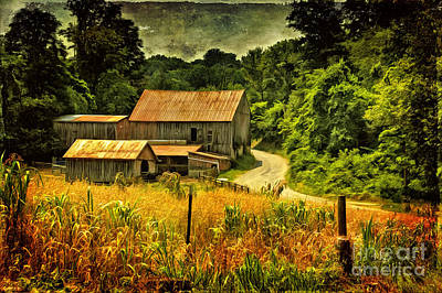 Old Barns Digital Art - I Remember It Was In The Summer by Lois Bryan