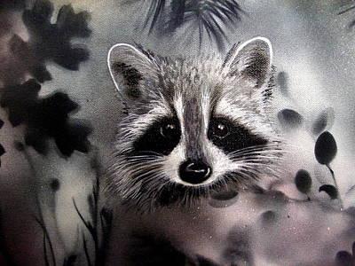 Raccoon Mixed Media - I See You. by Holly Smith