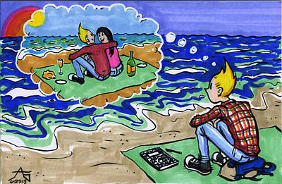Twin Flame Drawing - I Still Miss Someone by John Ashton Golden