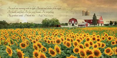 I Thank Thee Print by Lori Deiter