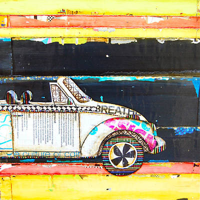 Beetle Mixed Media - I Wear My Sunglasses At Night by Danny Phillips