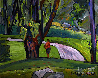 Relating Painting - I Will Immortsalize You Golfer by Charlie Spear