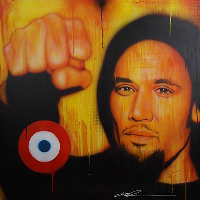 Ben Harper - ' I Will Look The World Straight In The Eye ' Print by Christian Chapman Art