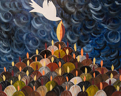 Pentecost Painting - I Will Pour Out My Spirit On All My People by Marianne Gonzales