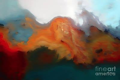 With Texture Painting - I Will Trust In You. Psalm 56 3- Painting With Light by Mark Lawrence