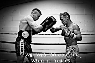 Kickboxing Photograph - I Will Win by Chris Black