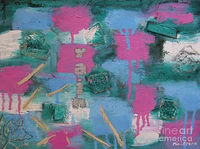 Mini Arora Abstracts Mixed Media - I Wish by Mini Arora