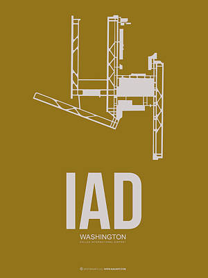 Washington Digital Art - Iad Washington Airport Poster 3 by Naxart Studio