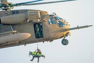 Iaf Sikorsky Ch-53 Helicopter Print by Photostock-israel