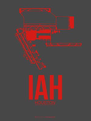 Iah Houston Airport Poster 1 Print by Naxart Studio