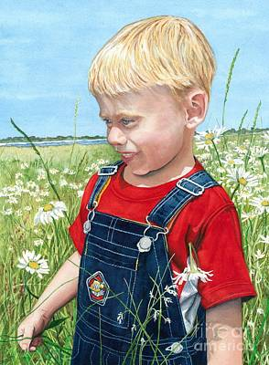 Maine Painting - Ian's Field Of Dreams by Barbara Jewell