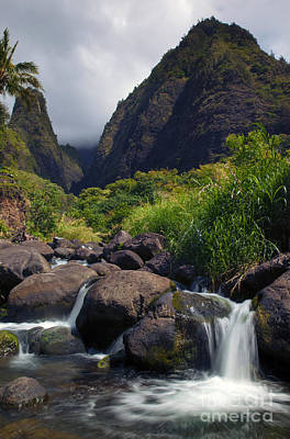 Waterfall Photograph - Iao  Storm by Mike  Dawson